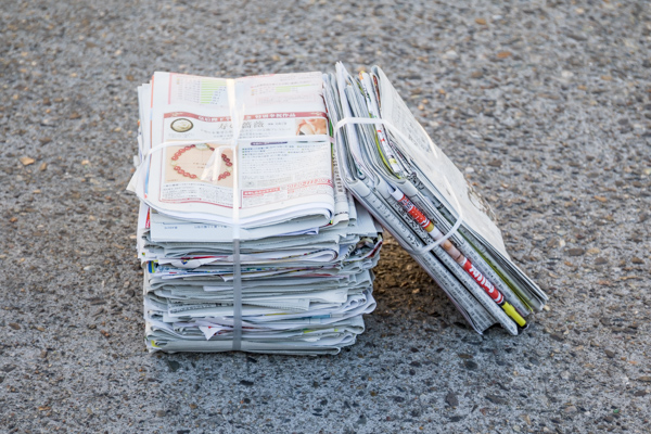 新聞紙の写真